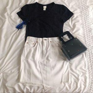 Rag & Bone/JEAN asymmetric mini skirt